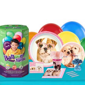 Glamour Dogs 16 Guest Party Pack and Helium Kit by Rachael Hale