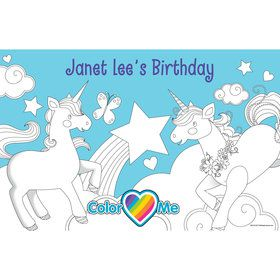 Fairytale Unicorn Personalized Activity Mat (8 Count)