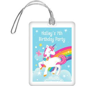 Fairytale Unicorn Personalized Bag Tag (Each)