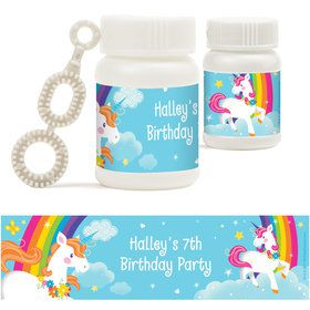 Fairytale Unicorn Personalized Bubbles (18 Pack)