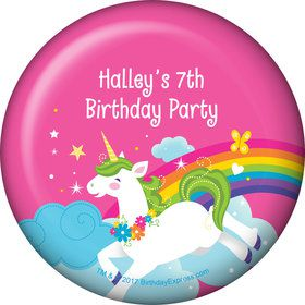 Fairytale Unicorn Personalized Button (Each)