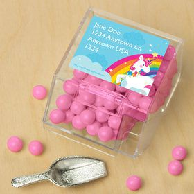 Fairytale Unicorn Personalized Candy Bin with Candy Scoop (10 Count)