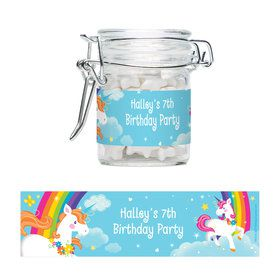 Fairytale Unicorn Personalized Glass Apothecary Jars (12 Count)