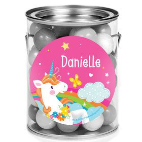 Fairytale Unicorn Personalized Mini Paint Cans (12 Count)