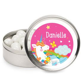 Fairytale Unicorn Personalized Mint Tins (12 Pack)