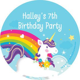 Fairytale Unicorn Personalized Stickers (Sheet of 12)
