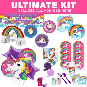 Fairytale Unicorn Ultimate Tableware Kit (Serves 8)