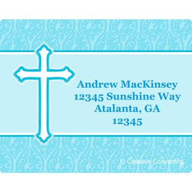 Faith Blue Personalized Address Labels (Sheet of 15)