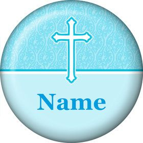 Faith Blue Personalized Mini Button (Each)