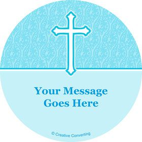 Faith Blue Personalized Stickers (Sheet of 12)