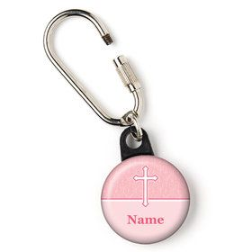 "Faith Pink Personalized 1"" Carabiner (Each)"