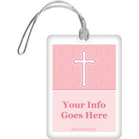 Faith Pink Personalized Bag Tag (Each)