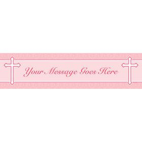 Faith Pink Personalized Banner (Each)