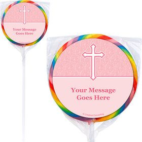 Faith Pink Personalized Lollipops (12 Pack)