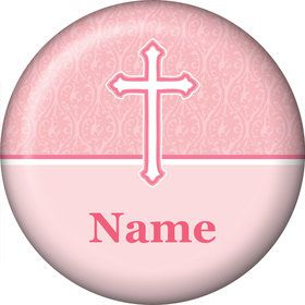 Faith Pink Personalized Mini Button (Each)