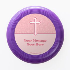 Faith Pink Personalized Mini Discs (Set of 12)