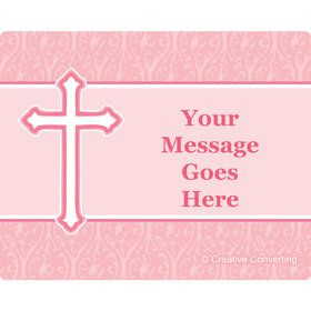 Faith Pink Personalized Rectangular Stickers (Sheet of 15)