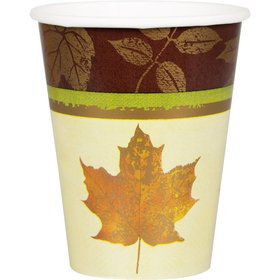 Fall Elegance 9oz Cups (8 Count)