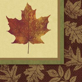 Fall Elegance Luncheon Napkins (16 Pack)