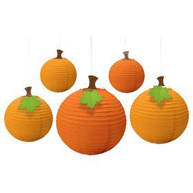 Fall Round Paper Lanterns (Each)