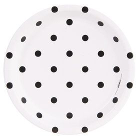 Fancy Floral Polka Dot Dinner Plate (8)