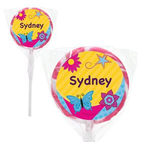 "Fancy Party Personalized 2"" Lollipops (20 Pack)"