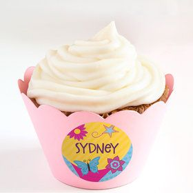 Fancy Party Personalized Cupcake Wrappers (Set of 24)