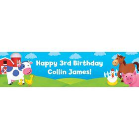 Farm Animals Personalized Banner (each)