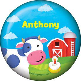 Farm Animals Personalized Button (each)