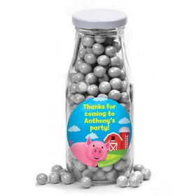 Farm Animals Personalized Glass Milk Bottles (10 Count)
