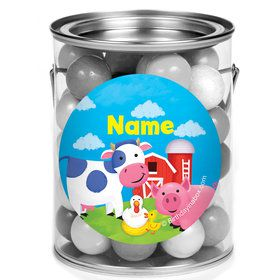 Farm Animals Personalized Mini Paint Cans (12 Count)