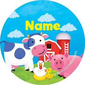 Farm Animals Personalized Mini Stickers (Sheet of 20)