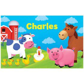 Farm Animals Personalized Placemat (each)