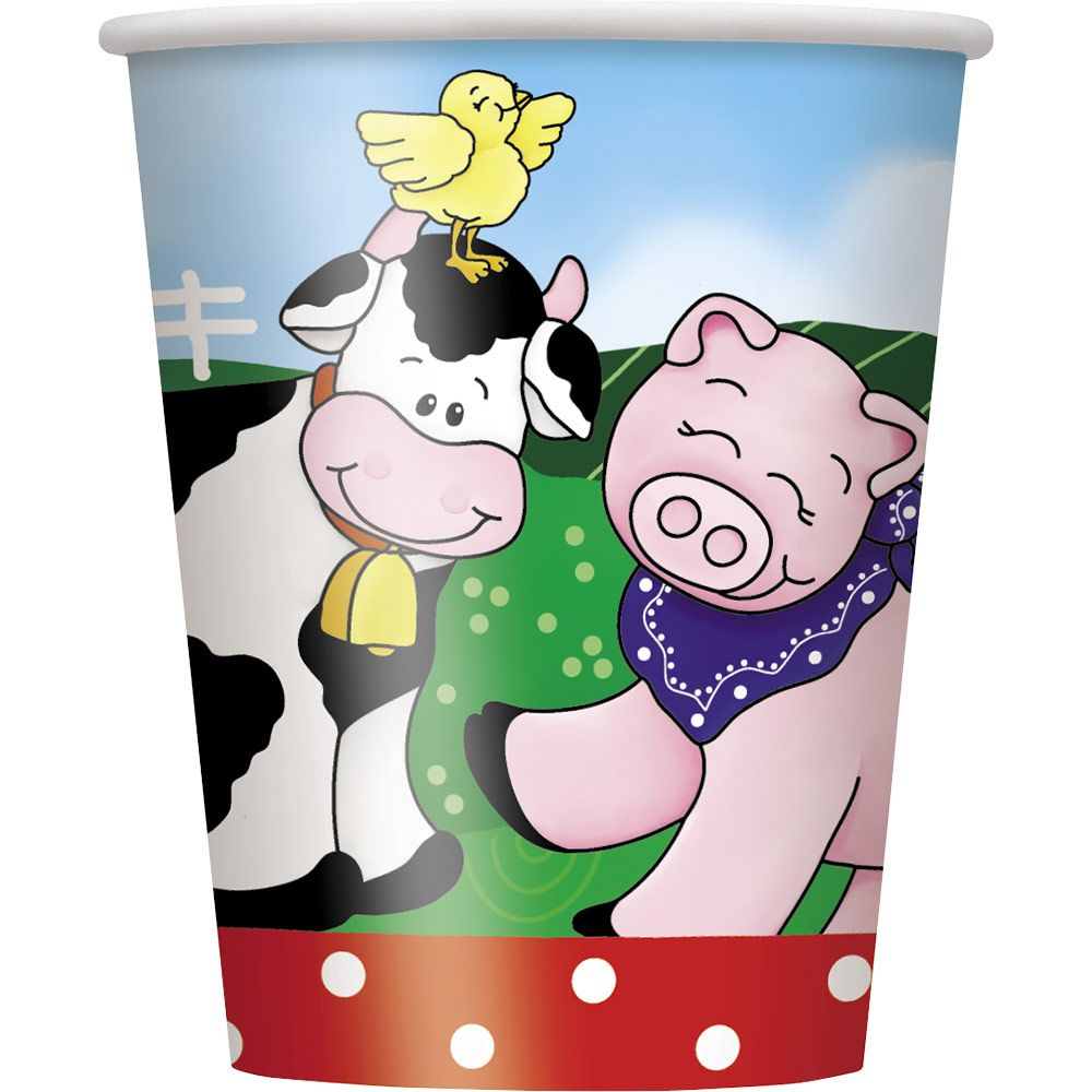 Farm Friends Barnyard 9Oz Cups (8 Pack) BB41936