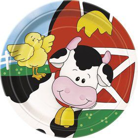 Farm Friends Barnyard Cake Plates (8 Pack)