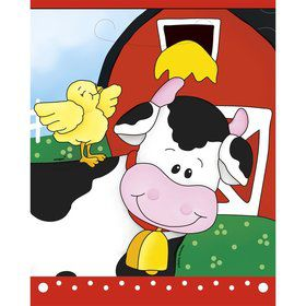Farm Friends Barnyard Favor Bags (8 Pack)