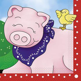 Farm Friends Barnyard Luncheon Napkins (16 Pack)