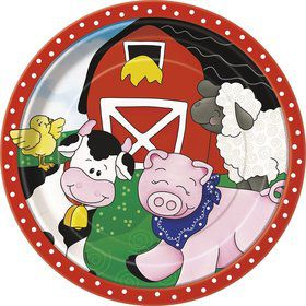 Farm Friends Barnyard Luncheon Plates (8 Pack)