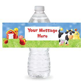 Farm Friends Barnyard Personalized Bottle Labels (Sheet of 4)