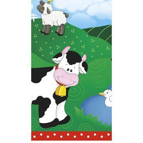 Farm Friends Barnyard Table Cover (Each)