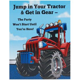 Farm Tractor Invitations (8)