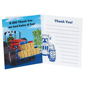 Farm Tractor Thank You Notes