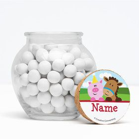 "Farmhouse Fun Personalized 3"" Glass Sphere Jars (Set of 12)"