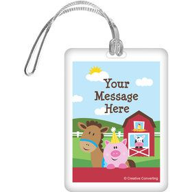 Farmhouse Fun Personalized Bag Tag (Each)