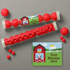 Farmhouse Fun Personalized Candy Tubes (12 Count)