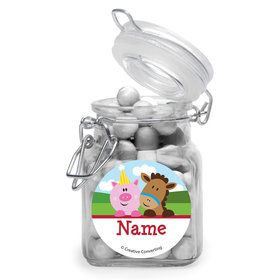 Farmhouse Fun Personalized Glass Apothecary Jars (12 Count)