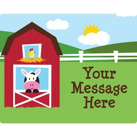 Farmhouse Fun Personalized Rectangular Stickers (Sheet of 15)