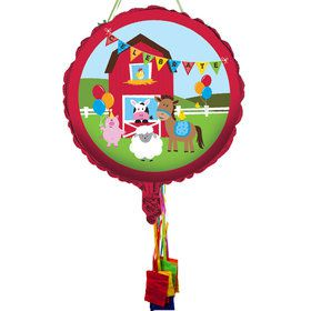 Farmhouse Pull String Economy Pinata