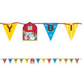 Farmhouse Ribbon Banner Decoration (Each)