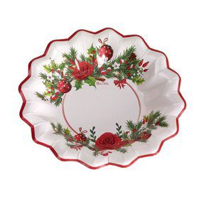 "Festive 9"" Shaped Paper Bowl (8)"